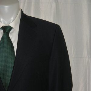 Canali 13220 Blue Herringbone Two Button Suit 40S